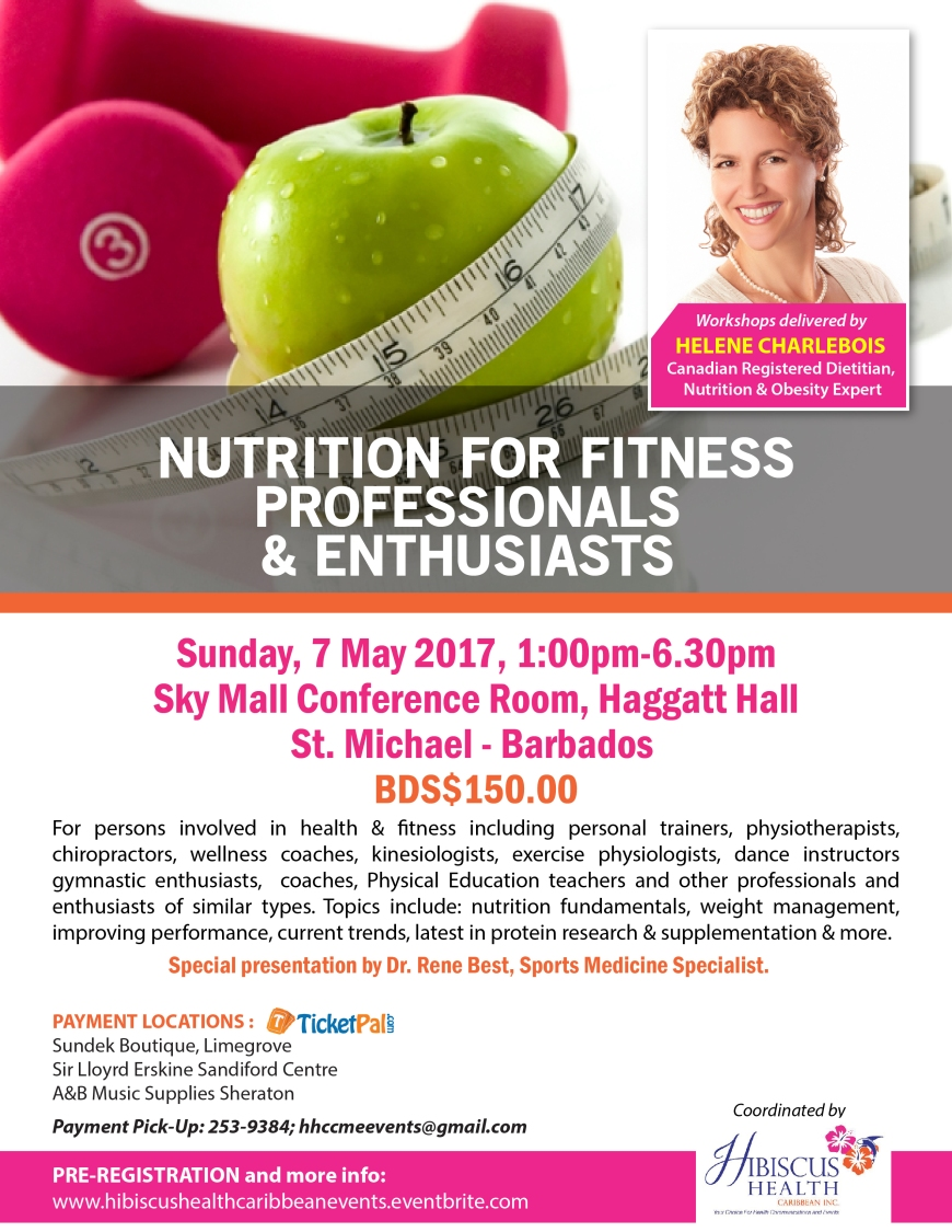 Nutrition for Fitness Professionals & Enthusiasts May 7th Flyer (4)