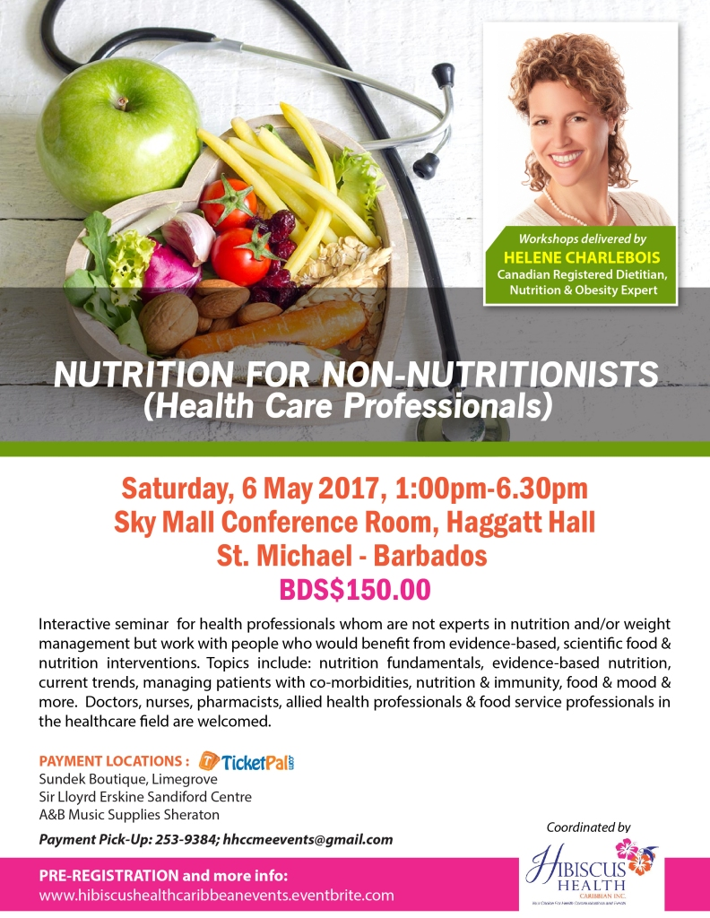 Nutrition for Non-Nutritionists (Health Care Professionals) Flyer May 6th (1)