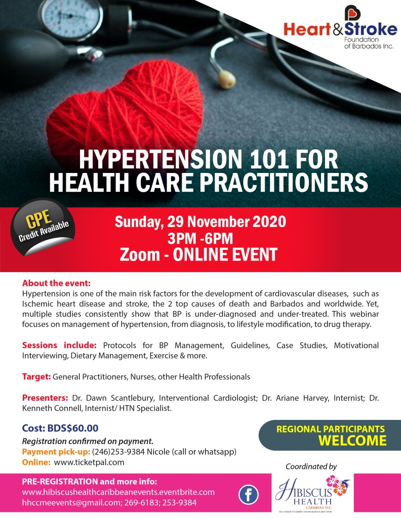 Hypertension 101 for Health Care Practitioners Flyer-01
